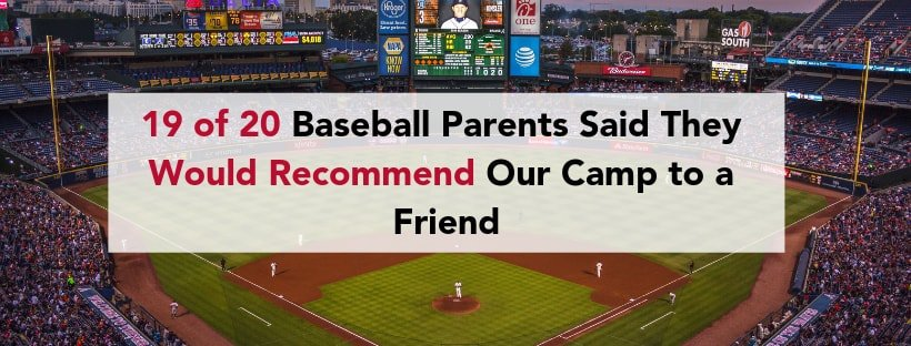 19 of 20 Baseball Parents Said They Would Recommend to a Friend-min