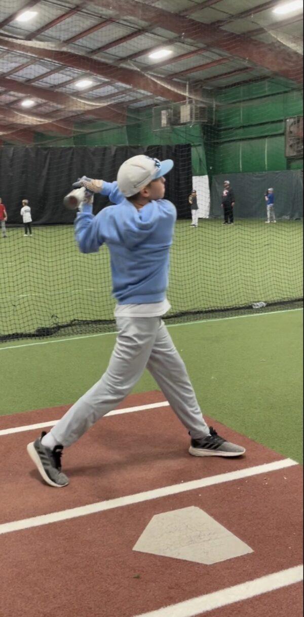 Youth Batting indoor baseball camp