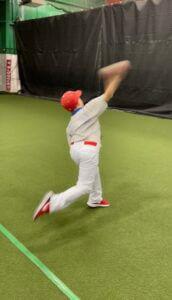 Youth Pitching indoor baseball camp