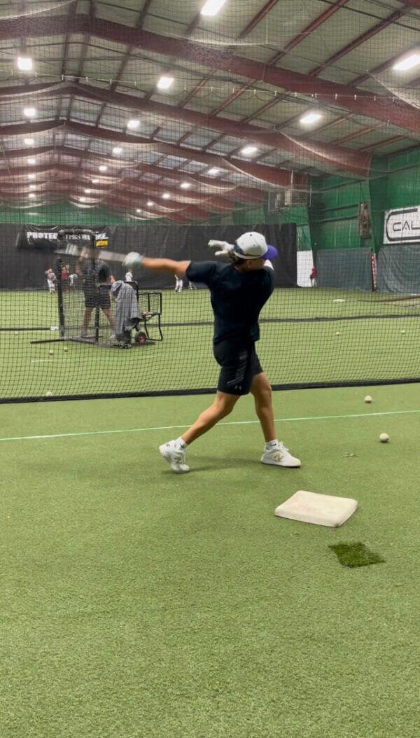 Youth Batting 2 indoor baseball camp