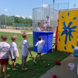 Youth Baseball Camp dunk tank