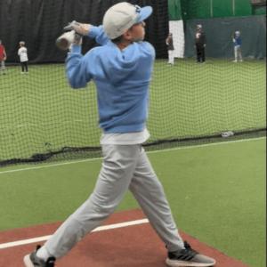 Batting youth baseball