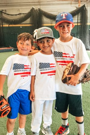 group of baseball campers